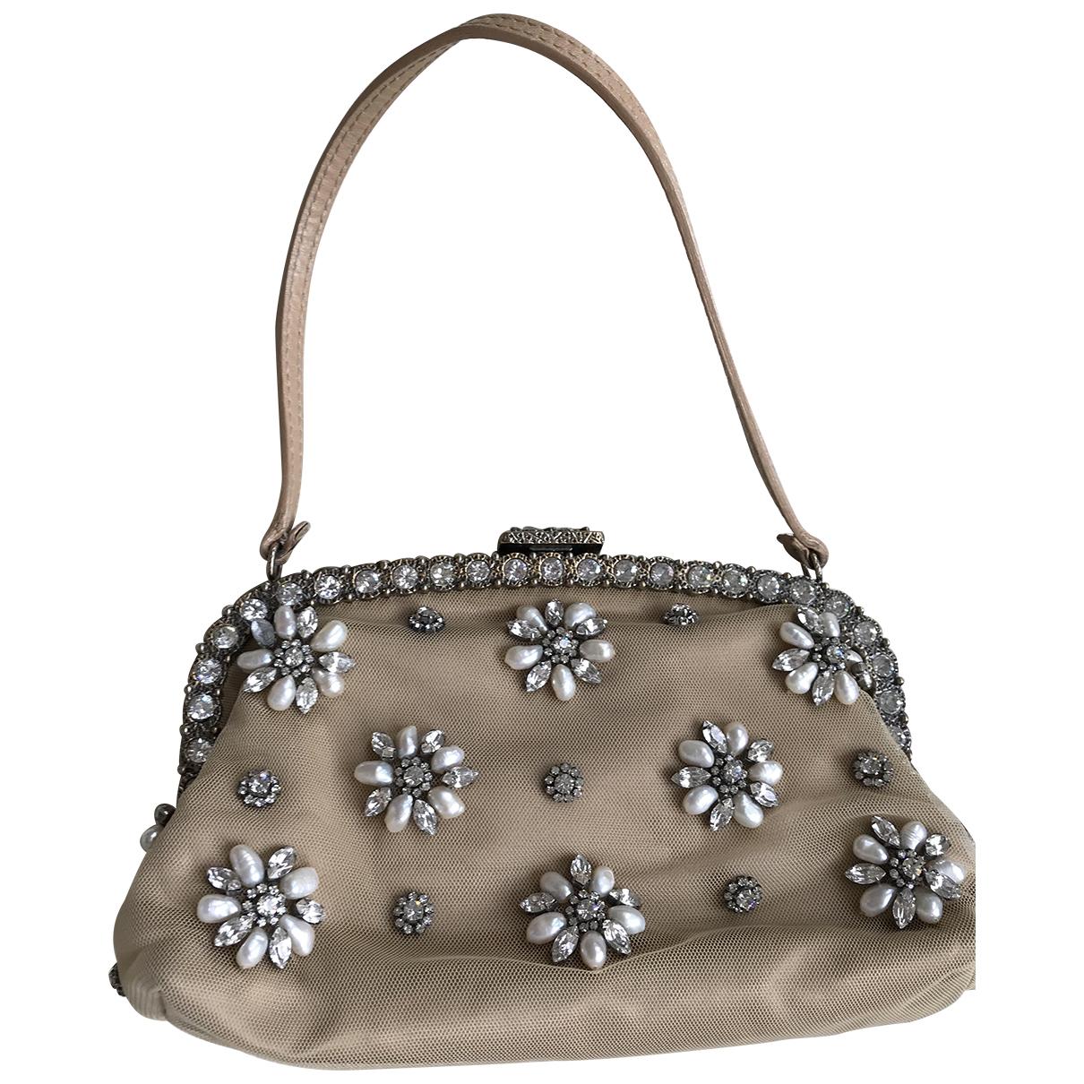 Valentino Garavani N Beige Cloth Clutch bag for Women N