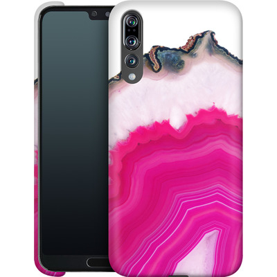 Huawei P20 Pro Smartphone Huelle - Pink Agate Slice von Emanuela Carratoni