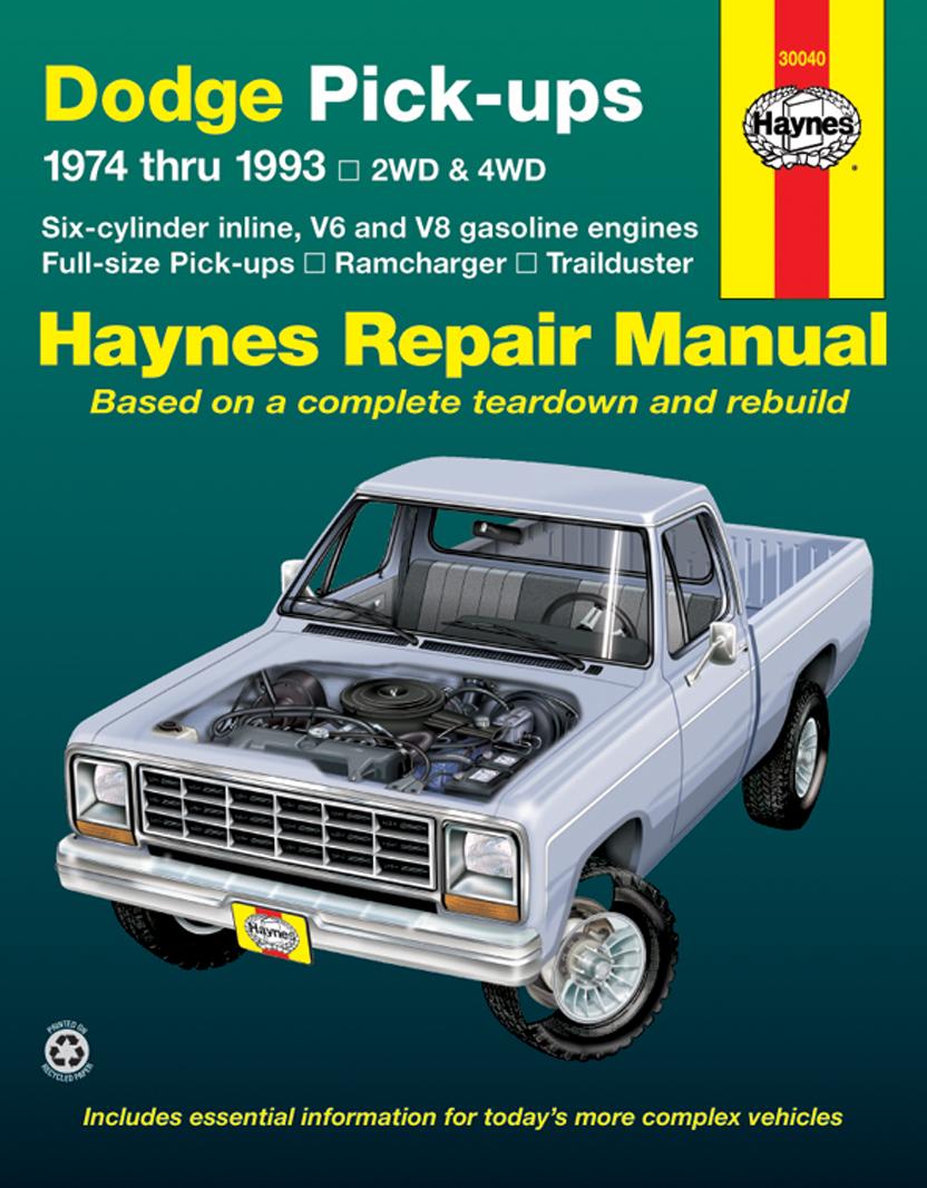 Dodge Ramcharger & Trailduster full-size Pick-ups (74-93) Haynes Repair Manual