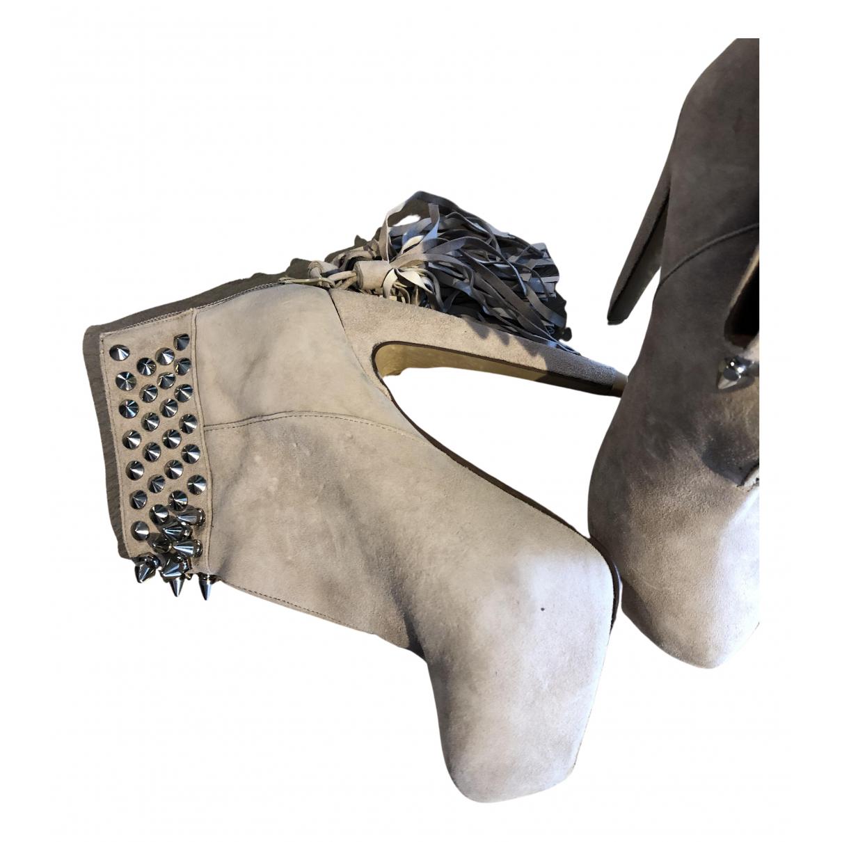 Jeffrey Campbell - Boots   pour femme en suede - rose