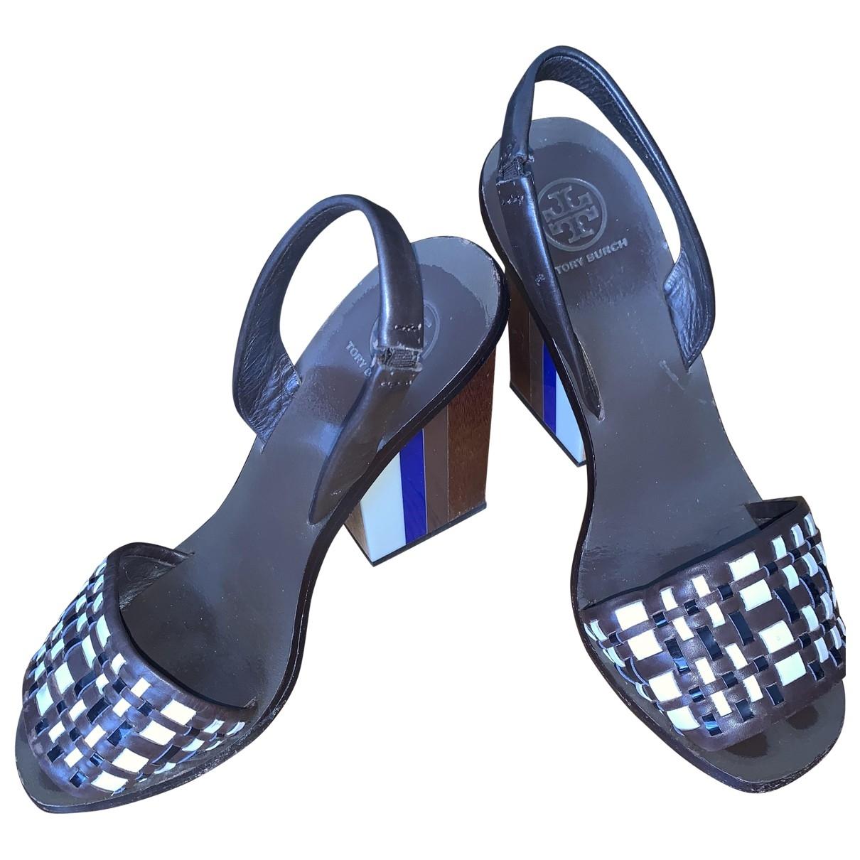 Sandalias de Cuero Tory Burch