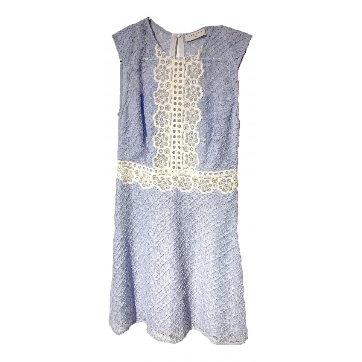Sandro \N Kleid in  Blau Spitze