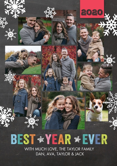 Christmas Photo Cards 5x7 Cards, Standard Cardstock 85lb, Card & Stationery -Holiday 2020 Best Year Ever by Tumbalina