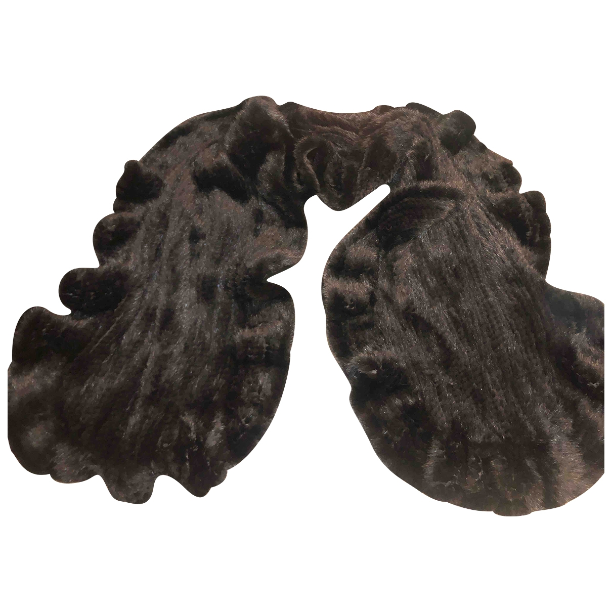 - Foulard   pour femme en vison - noir