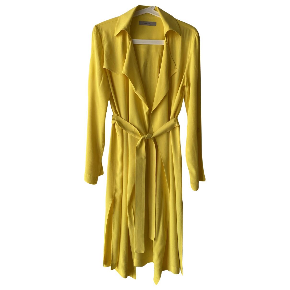 Marella \N Kleid in  Gelb Viskose