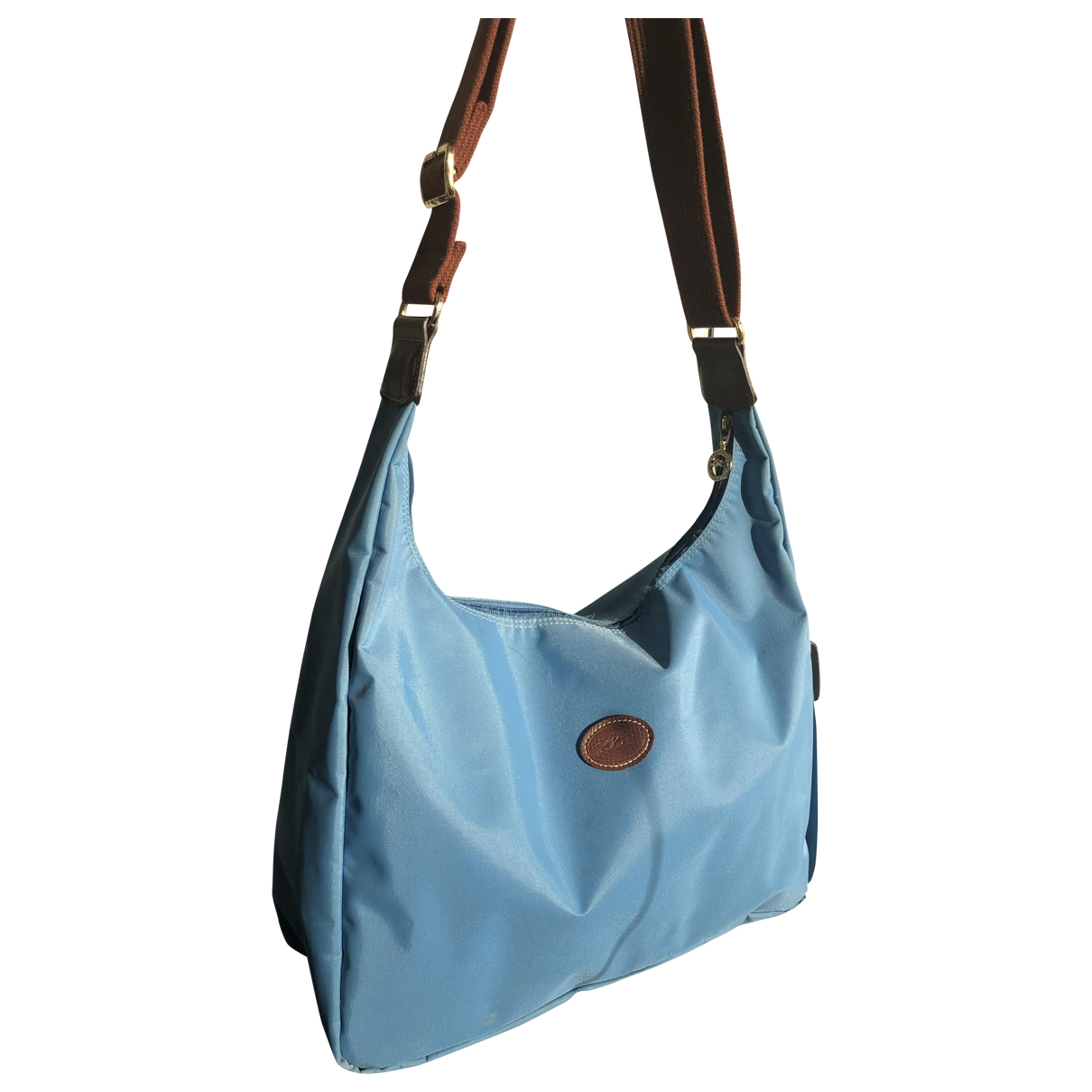 Longchamp - Sac a main Pliage  pour femme en toile - bleu