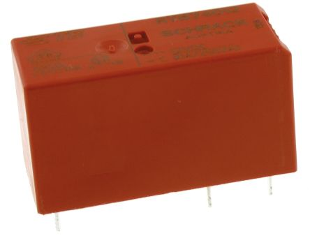 TE Connectivity SPDT PCB Mount Non-Latching Relay, 12V dc Coil 10 A