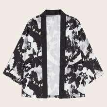 Maenner Kimono mit Farbenspitzer Muster