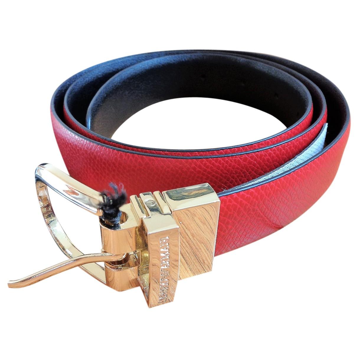 Emporio Armani N Red belt for Women 90 cm