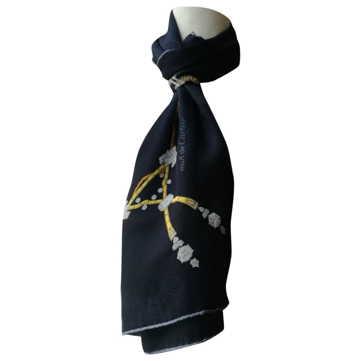 Cartier \N Black Silk scarf for Women \N