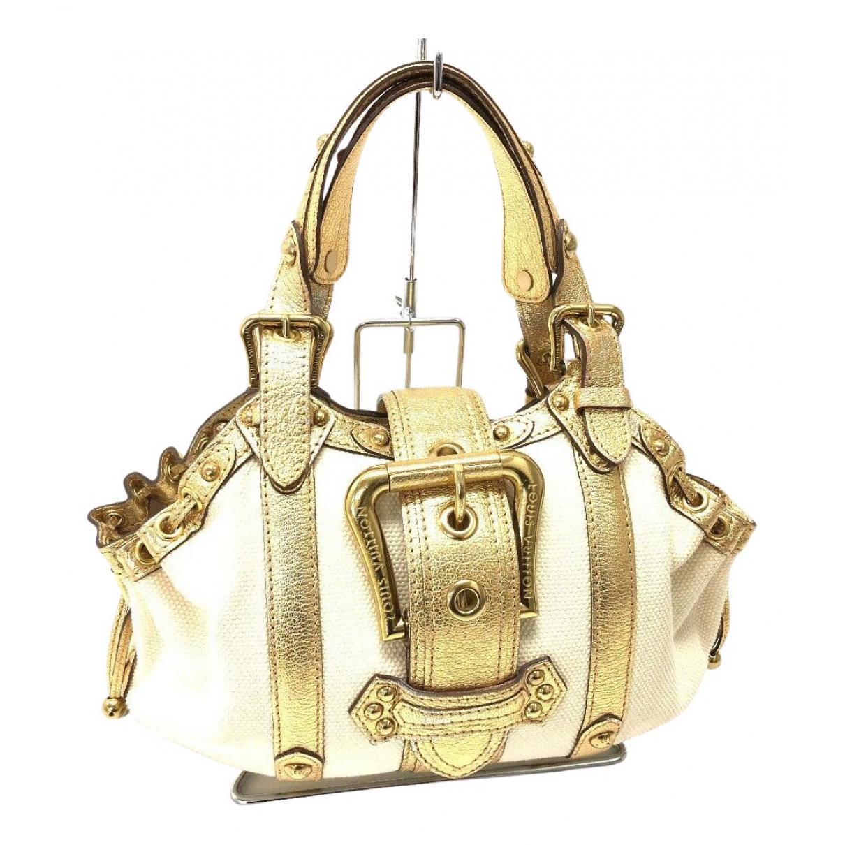 Louis Vuitton \N Handtasche in  Ecru Leinen