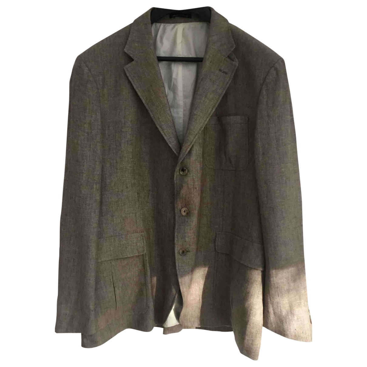 Faconnable \N Brown Linen jacket  for Men XXL International