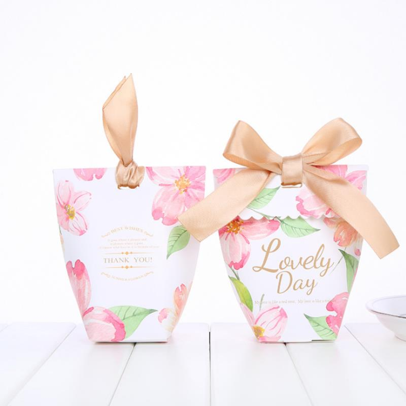 Creative Party Supplies Vase Candy Box Wedding Favors Gifts Storage Case