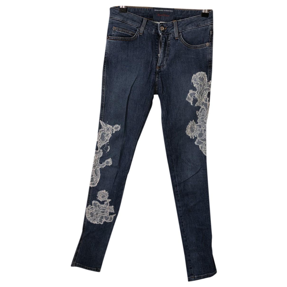 Ermanno Scervino N Blue Cotton Jeans for Women 34 FR