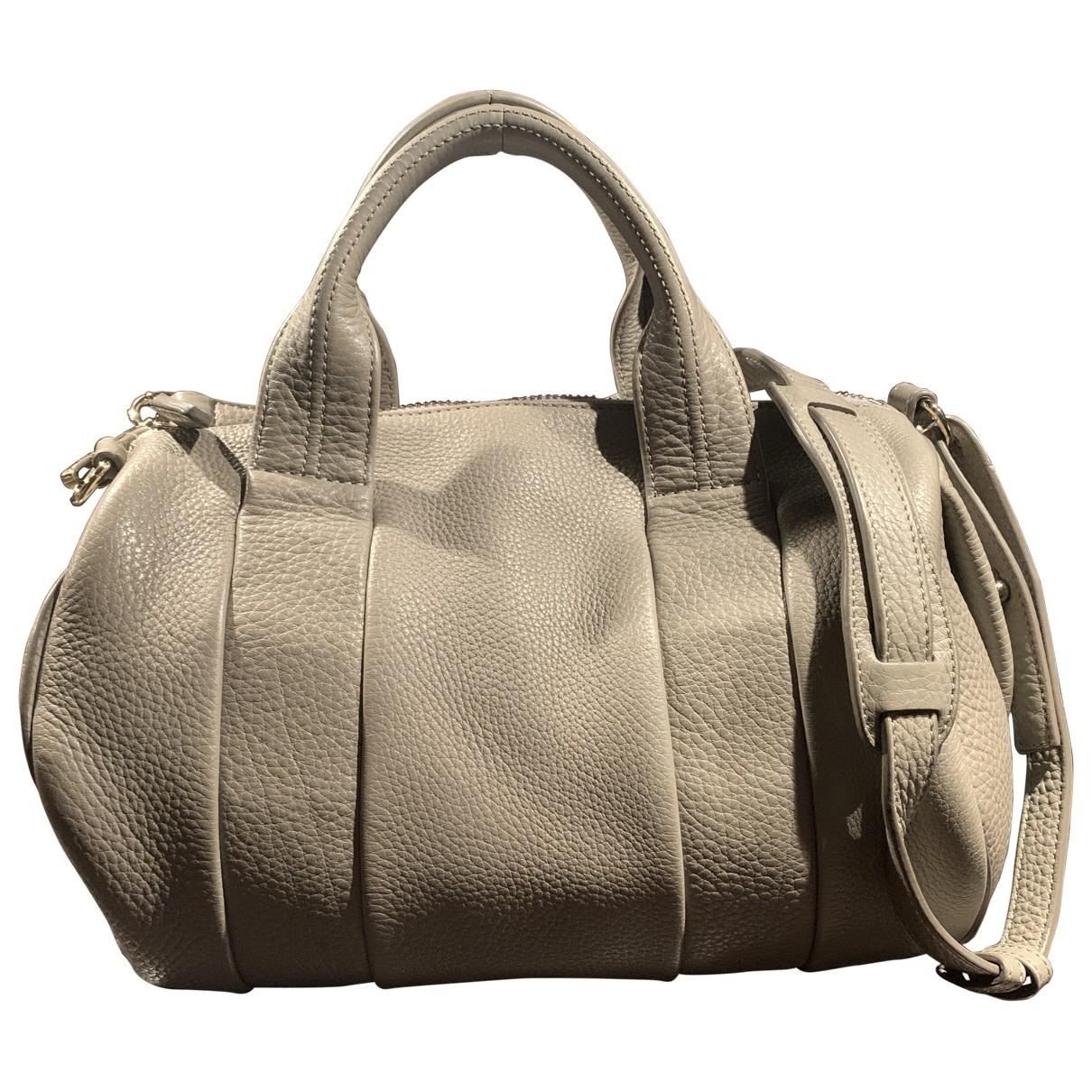 Alexander Wang Rockie Handtasche in  Beige Leder