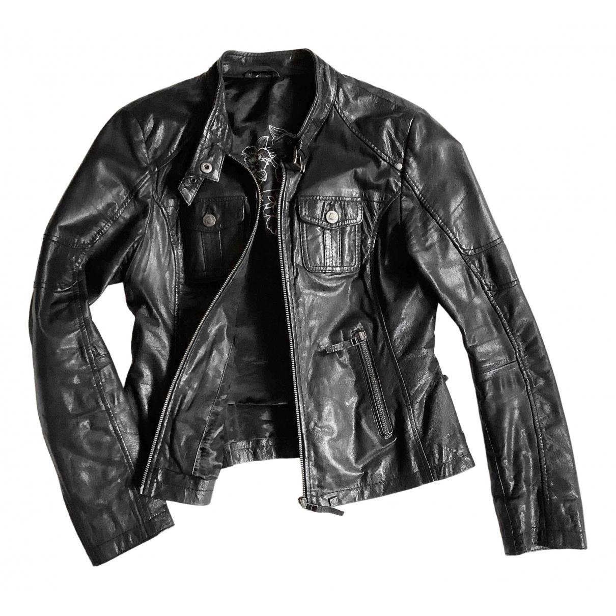 Oakwood \N Black Leather Leather jacket for Women L International