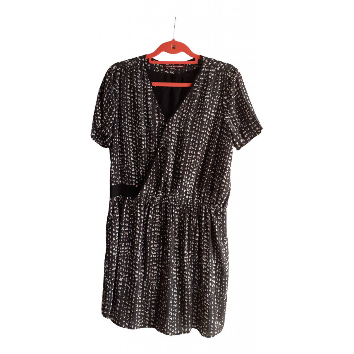 Comptoir Des Cotonniers \N Grey Silk dress for Women 42 FR
