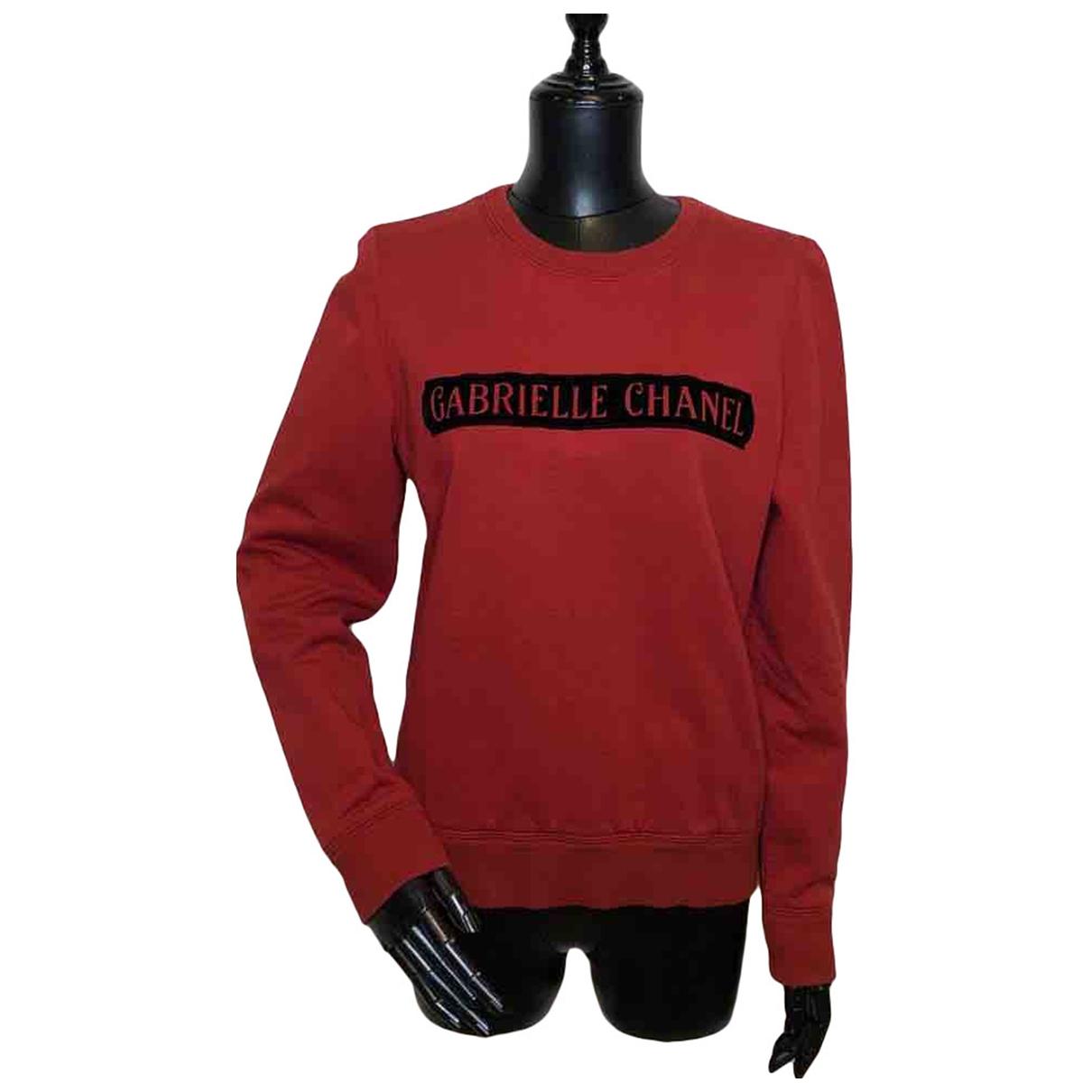 Chanel - Pull   pour femme en coton - rouge