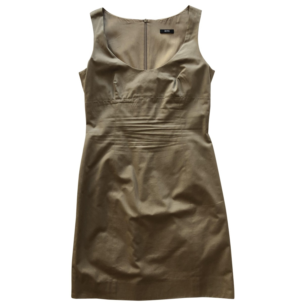 Boss \N Kleid in  Beige Baumwolle - Elasthan