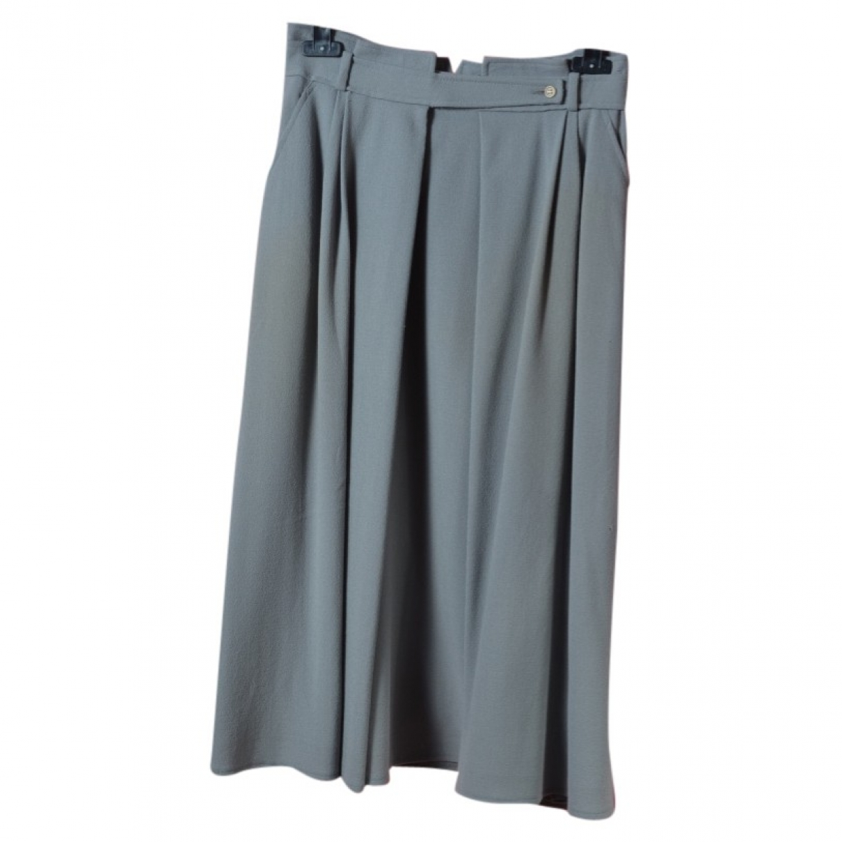 Dior \N Anthracite Wool skirt for Women 42 FR