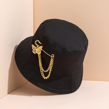 Butterfly Chain Brooch Dual-purpose Fisherman Hat