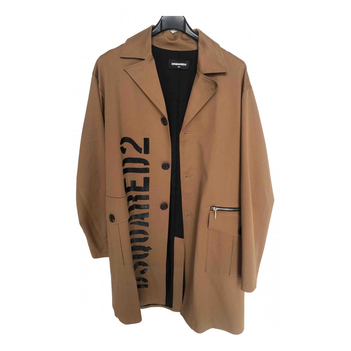 Dsquared2 - Manteau   pour femme en coton - beige