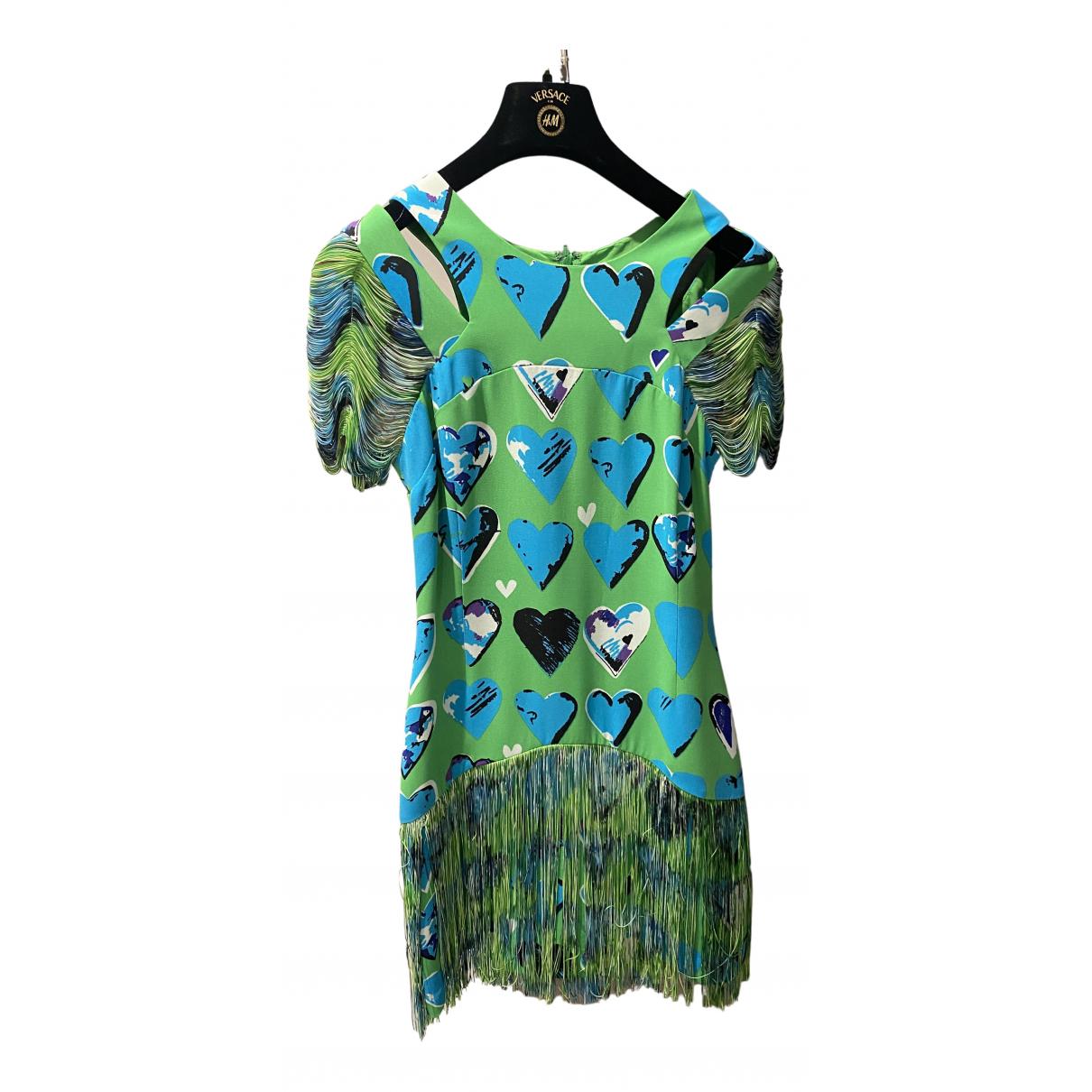 Versace X H&m \N Kleid in  Gruen Polyester