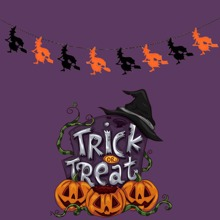 1pc Halloween Witch Pull Flag