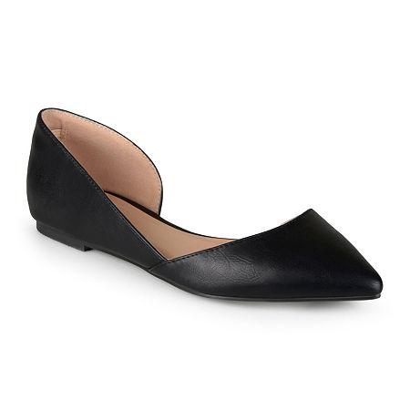 Journee Collection Womens Cortni D'Orsey Ballet Flats, 10 Wide, Black