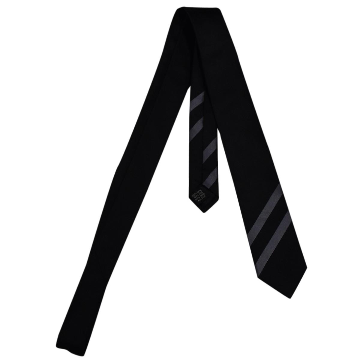 Dkny - Cravates   pour homme en soie - noir