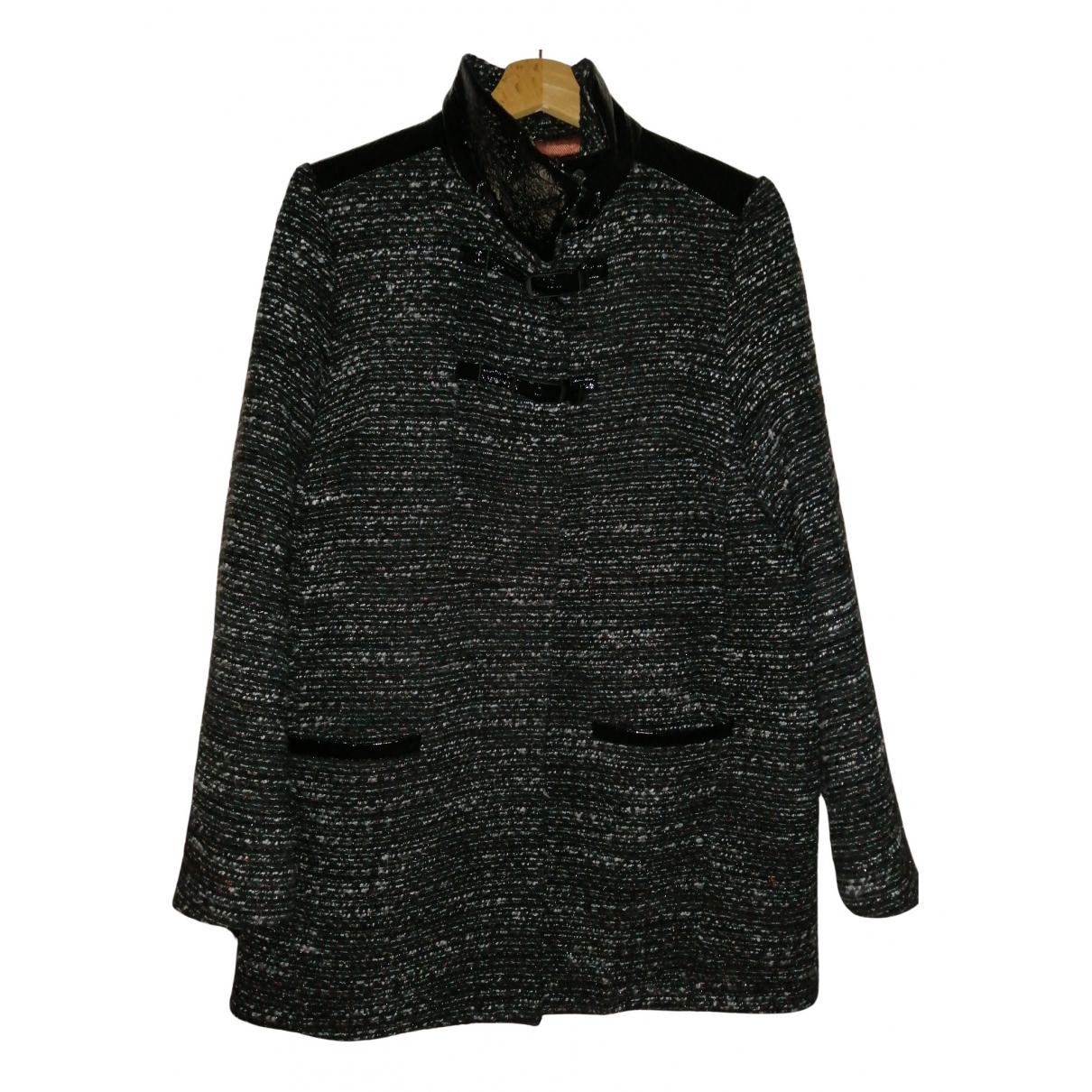 One Step N Black Cotton coat for Women 42 FR