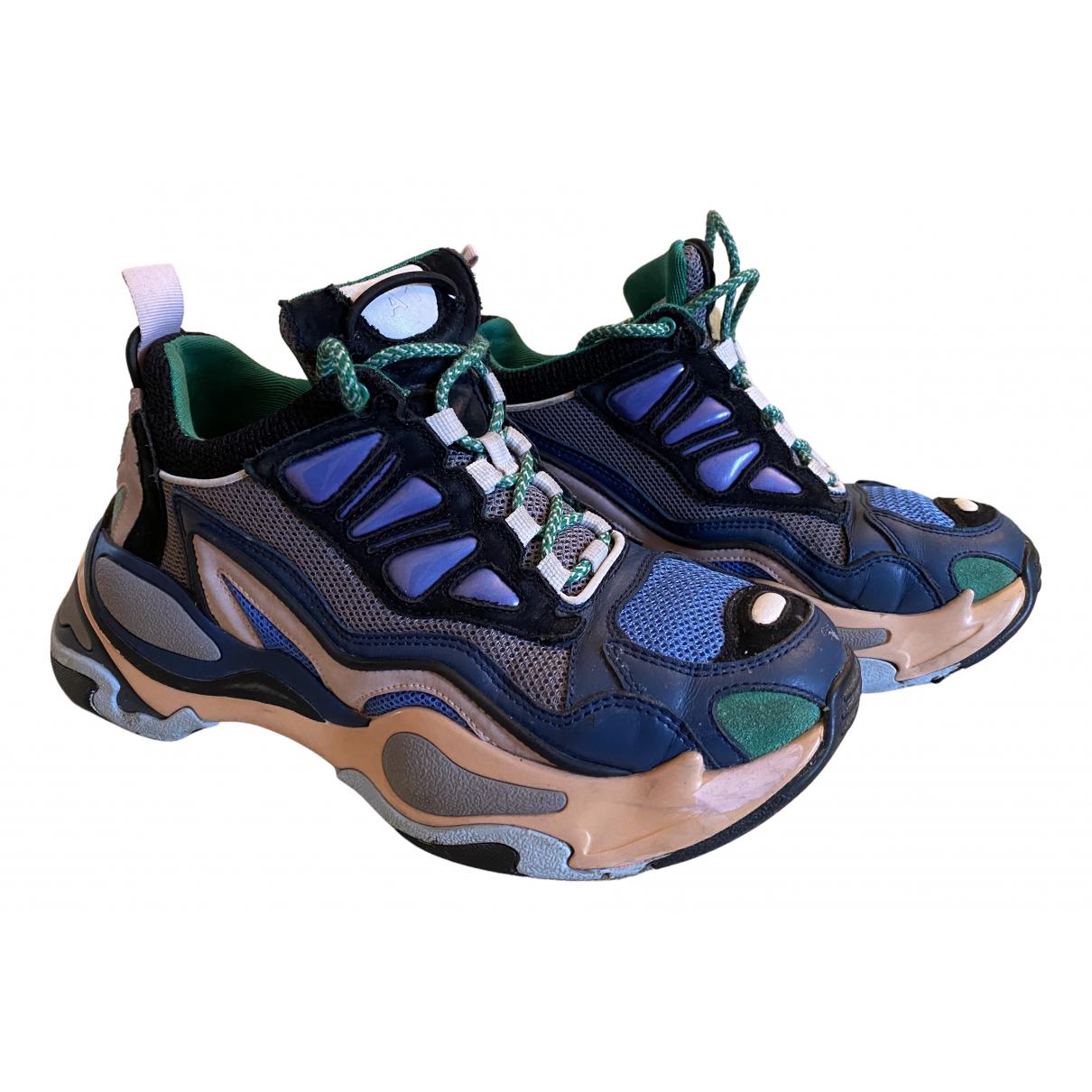 Sandro - Baskets Astro pour femme en cuir - bleu