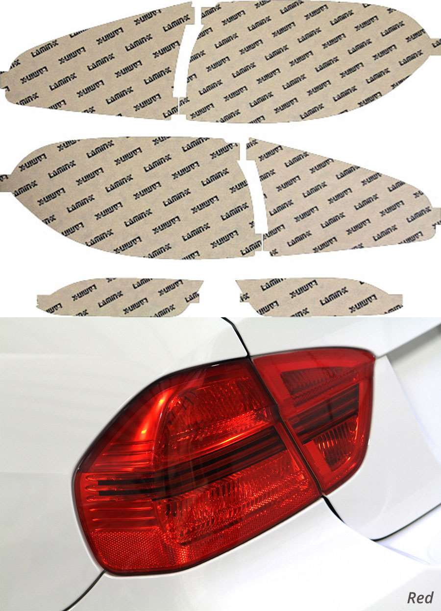 Subaru B9 Tribeca 08-14 Red Tail Light Covers Lamin-X S218R