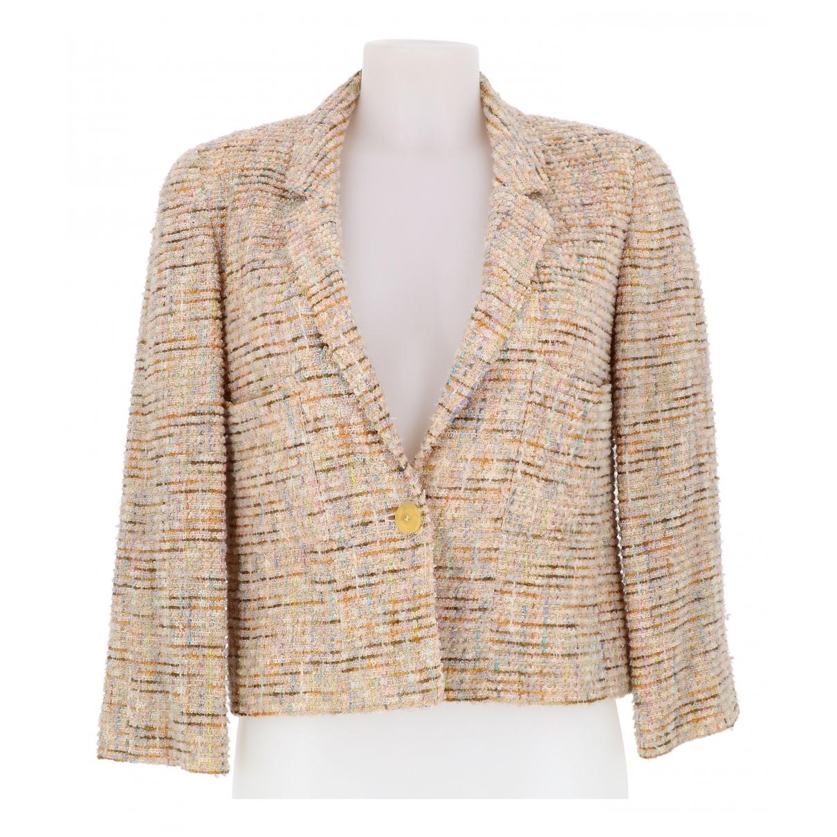 Chanel - Veste   pour femme en tweed - marron