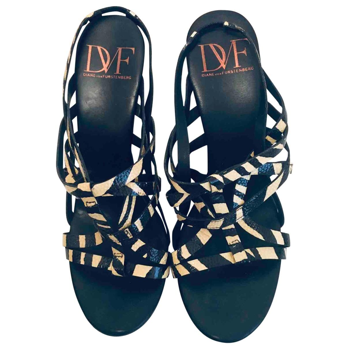 Diane Von Furstenberg \N Leather Sandals for Women 36.5 EU