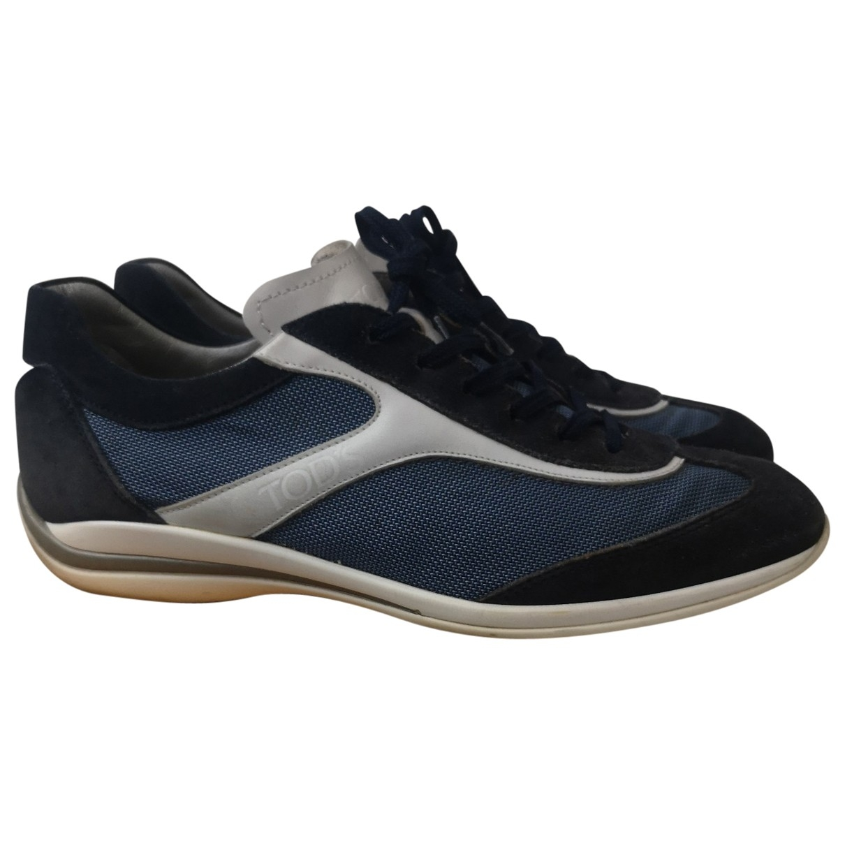Tod's \N Navy Cloth Trainers for Men 9 US
