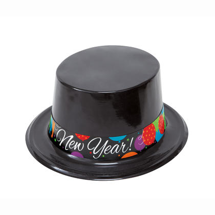 New Years Cheer Top Hat - Random Color, 11 x 10 x 4 in