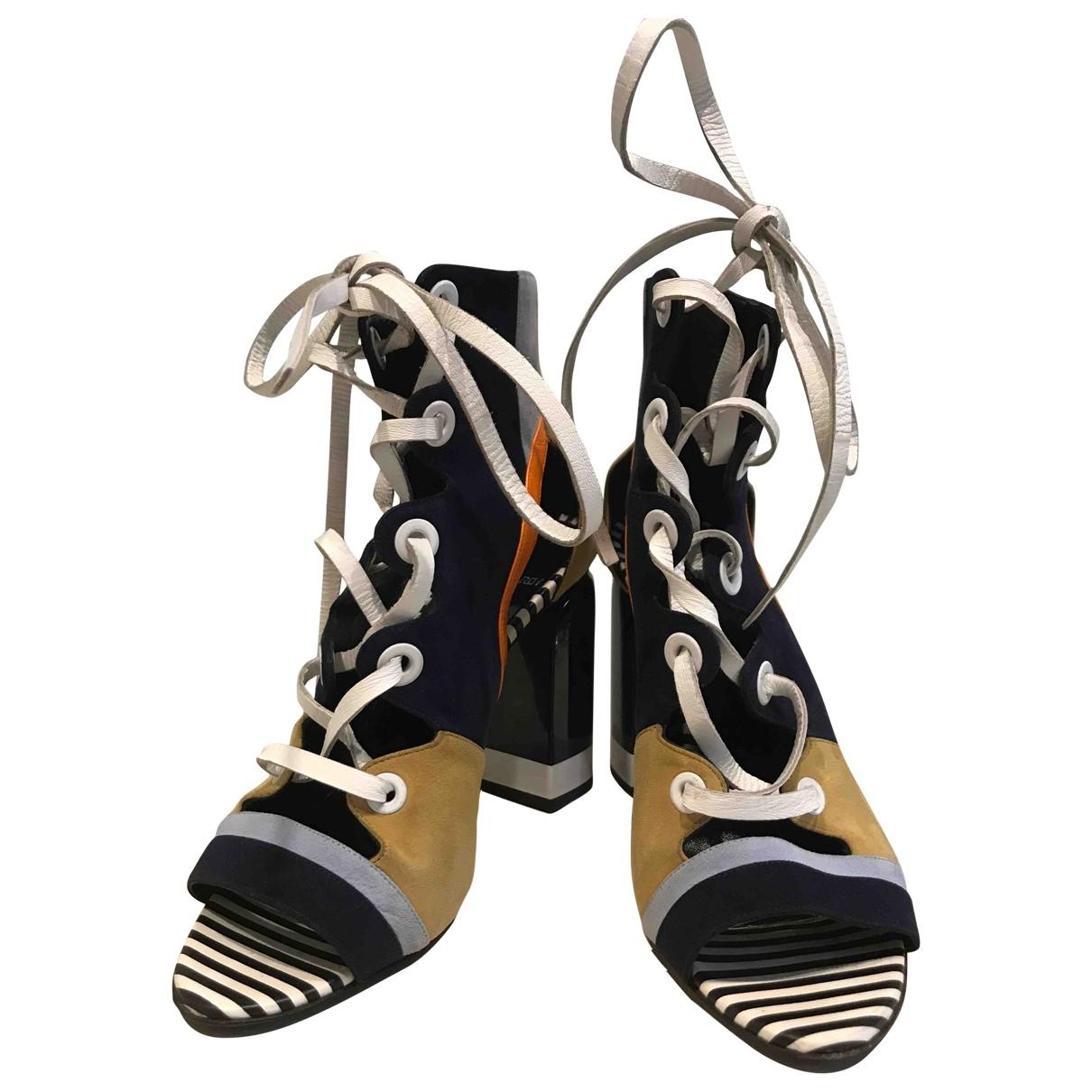 Pierre Hardy - Boots   pour femme en suede - multicolore