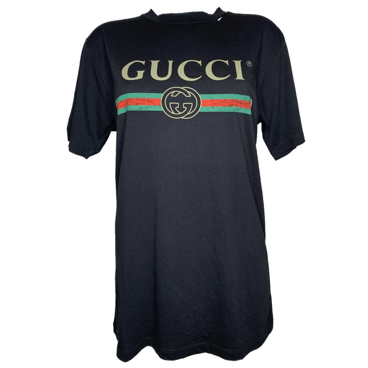 Gucci \N Top in  Schwarz Baumwolle
