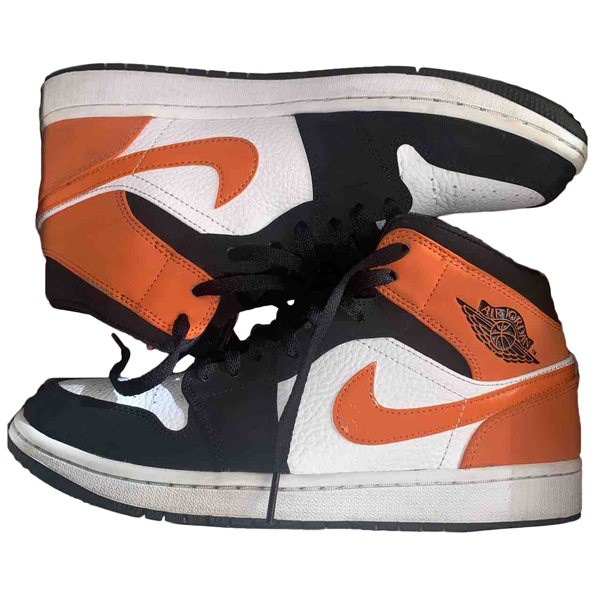 Jordan - Baskets Air Jordan 1  pour homme en cuir - orange