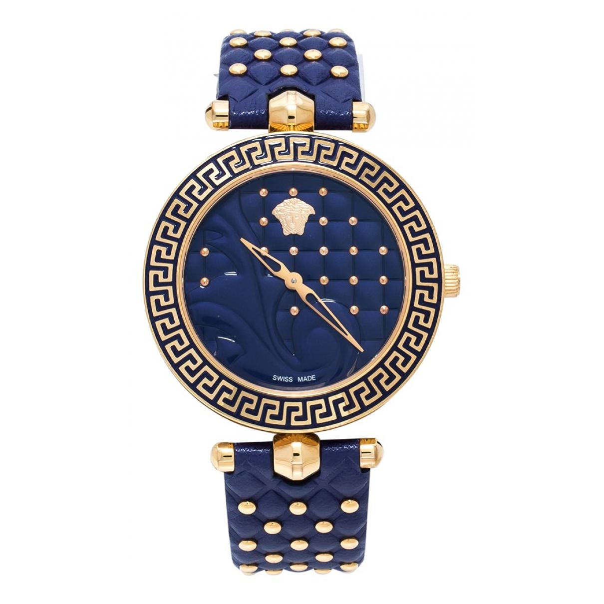 Versace - Montre   pour femme en acier - bleu