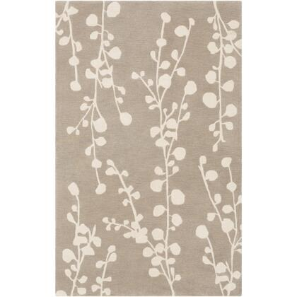 Athena ATH-5159 6' x 9' Rectangle Cottage Rug in Taupe