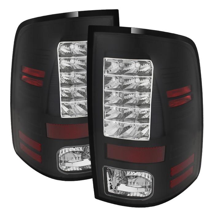 Spyder Auto ALT-YD-DRAM13-LED-BK Black LED Taillights Dodge Ram 2500 | 3500 with LED Lights 13-14