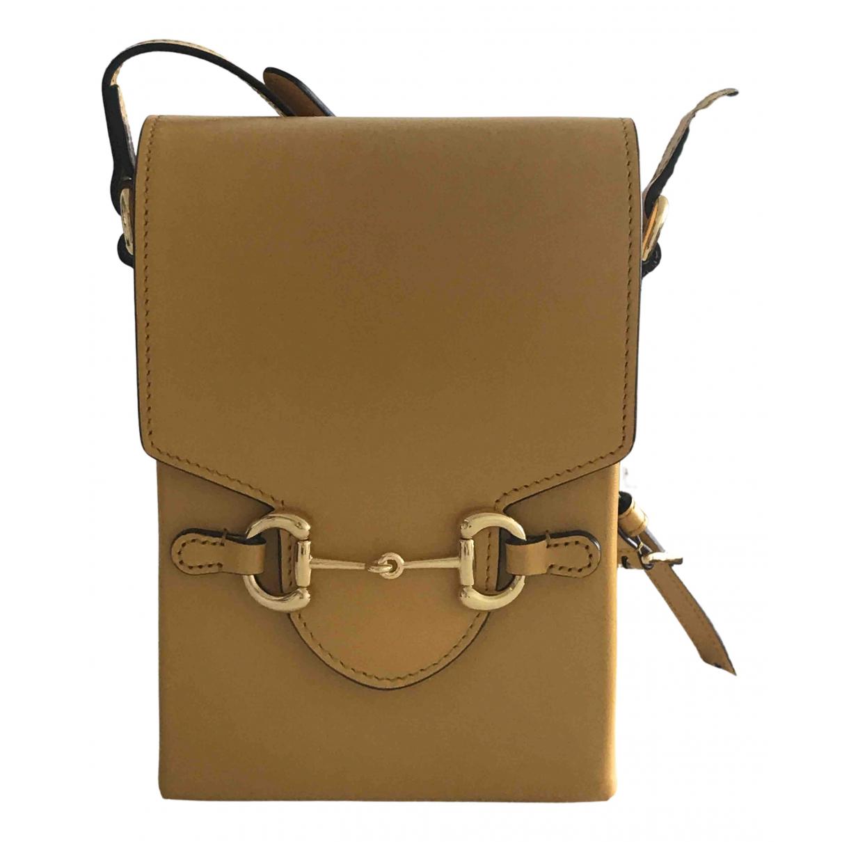 Gucci 1955 Yellow Leather handbag for Women N