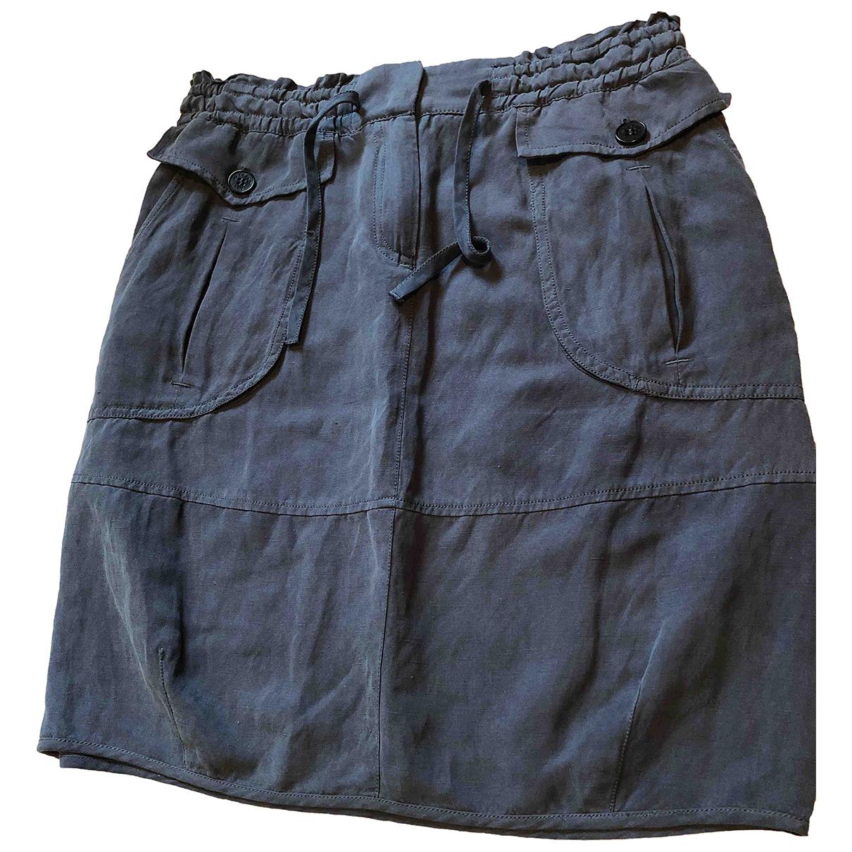 Max Mara Weekend N Navy Silk skirt for Women 6 UK