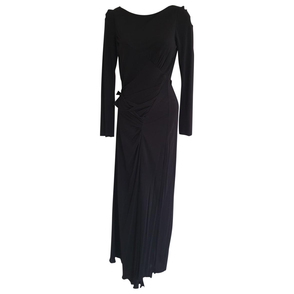 Badgley Mischka \N Kleid in  Schwarz Viskose