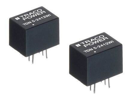 TRACOPOWER TND 5WI 5W Isolated DC-DC Converter Through Hole, Voltage in 18 → 75 V dc, Voltage out 24V dc