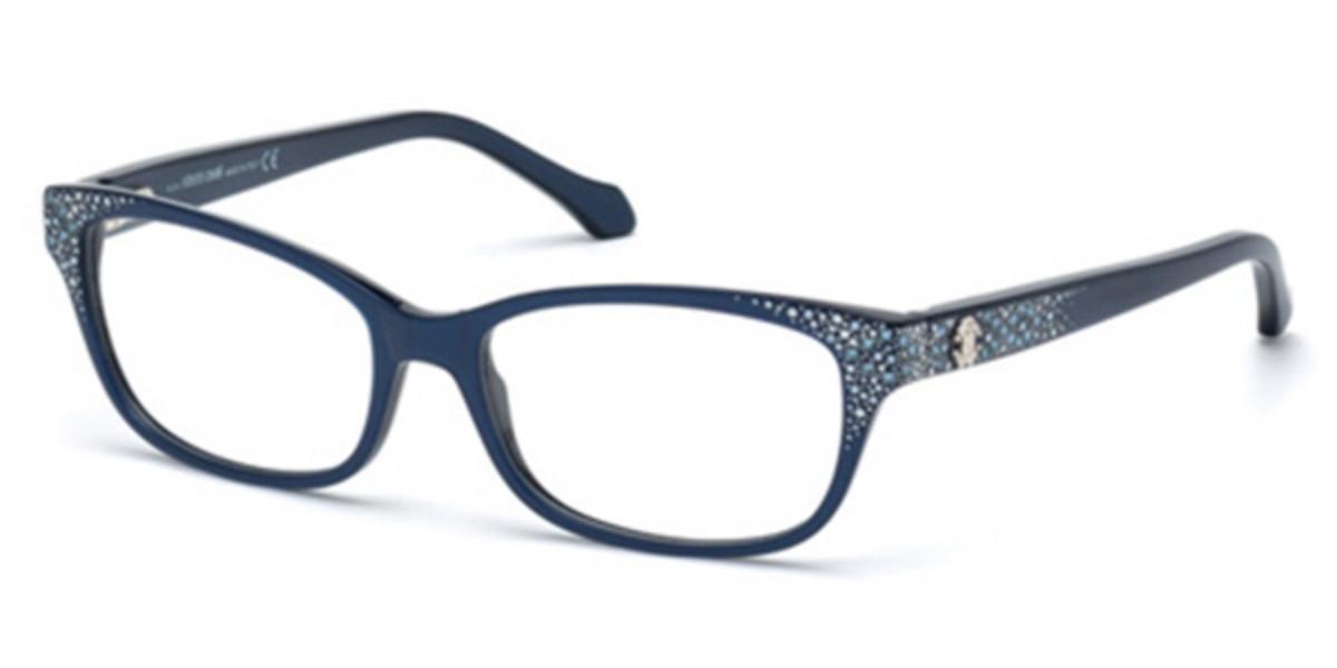 Roberto Cavalli RC 0928 PEACOCK 092 Women's Glasses Blue Size 54 - Free Lenses - HSA/FSA Insurance - Blue Light Block Available