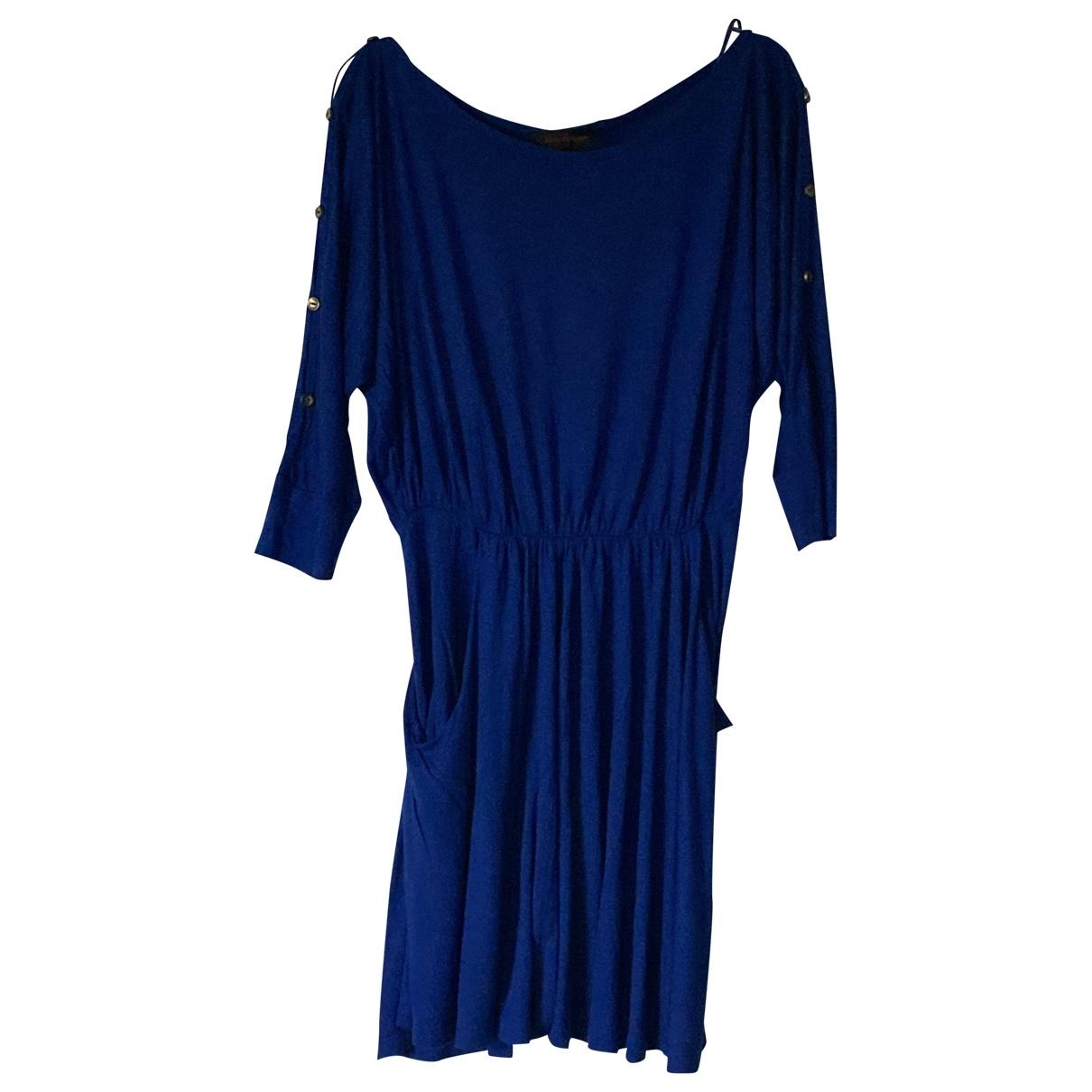 Miss Selfridge \N Kleid in  Blau Baumwolle - Elasthan