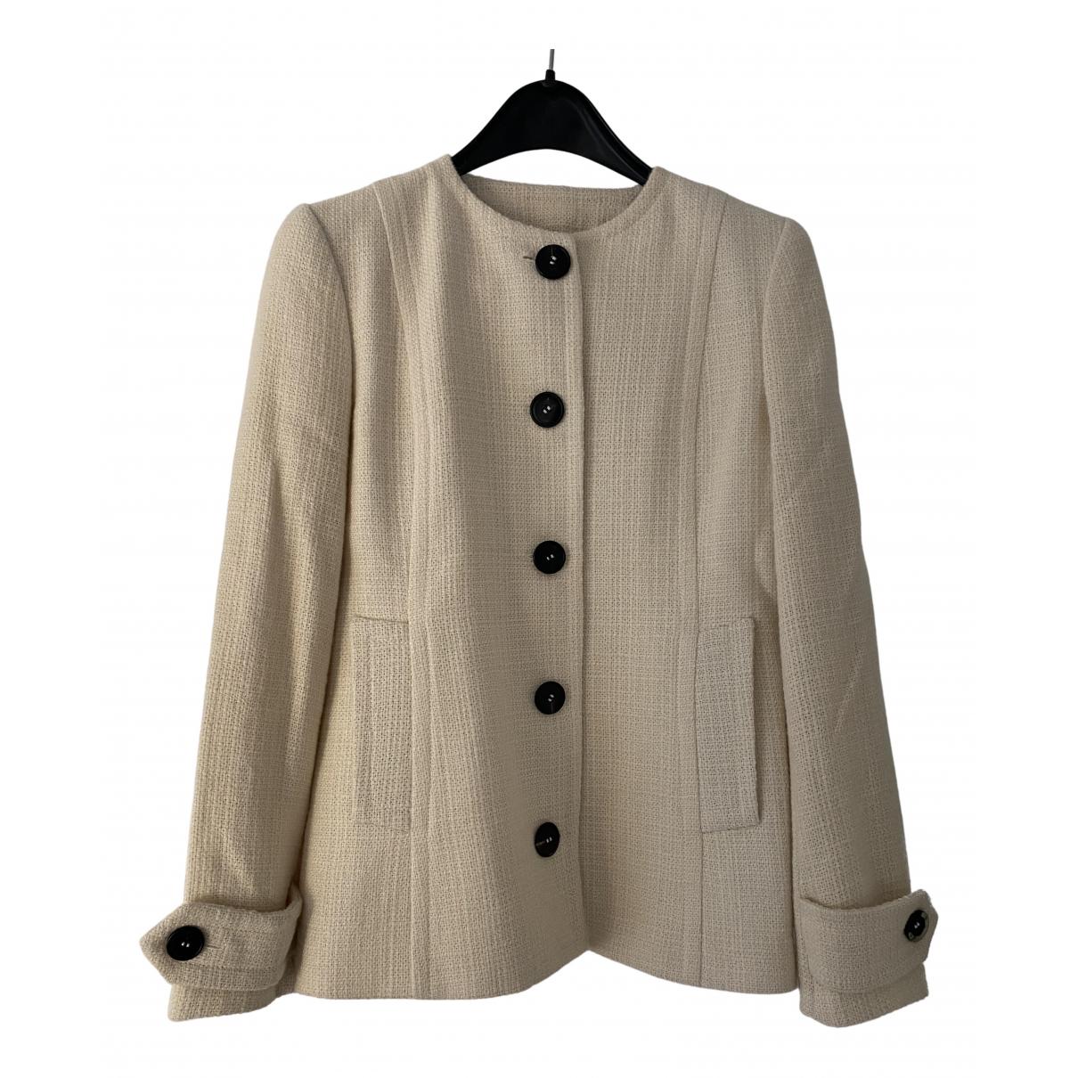 Dolce & Gabbana - Veste   pour femme en laine - ecru